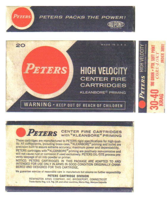 dating antique peters cartridge boxes